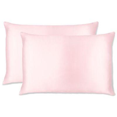Paket sadrži 2 jastučnice. Dimenzija: 50x70 cm Sastav: 100% Mulberry svila Dodatno: skriveni cif i rozi piping (obrub)