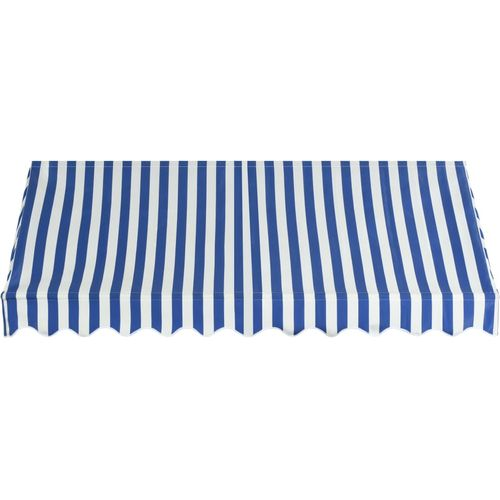 Bistro tenda 250 x 120 cm plavo-bijela slika 8
