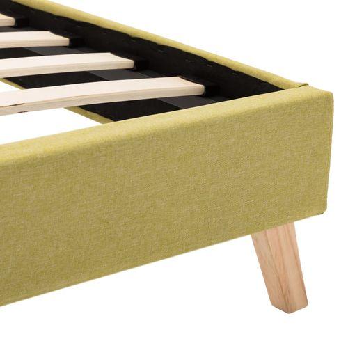 Okvir za krevet od tkanine s LED svjetlom zeleni 140 x 200 cm slika 8