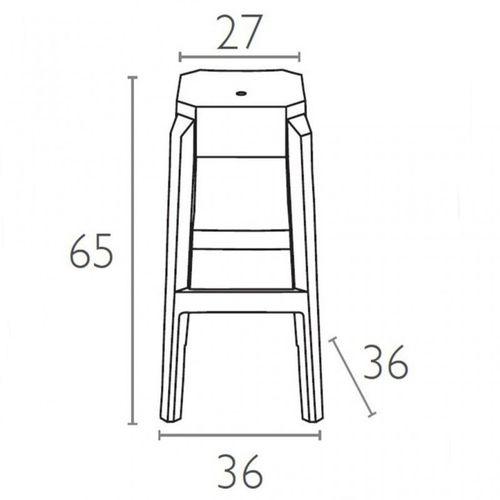 Dizajnerska barska stolica — POLY slika 2