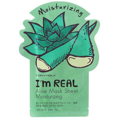TONYMOLY sheet maska za lice s koncentratom aloe vere.