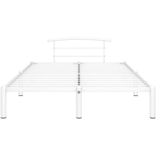 Okvir za krevet bijeli metalni 120 x 200 cm slika 3