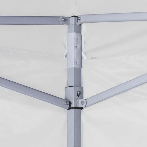 Profesionalni sklopivi šator za zabave 3 x 3 m čelični bijeli slika 13
