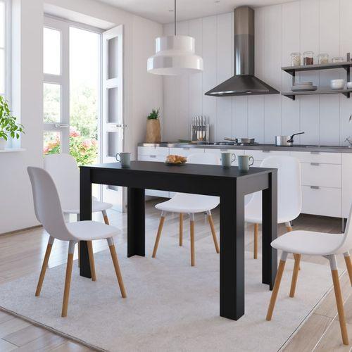 Blagovaonski stol crni 120 x 60 x 76 cm od iverice slika 12
