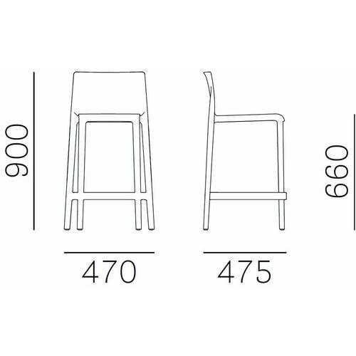 Dizajnerska barska stolica — by ARCHIVOLTO slika 2
