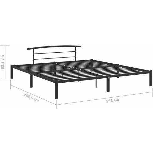 Okvir za krevet crni metalni 180 x 200 cm slika 7