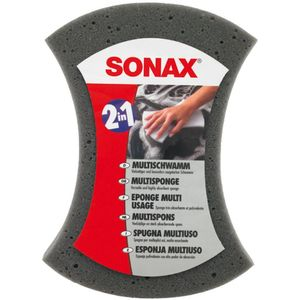 SONAX Višenamjenska spužva - dvostrana spužva za pranje. Sivi dio za pranje, bijeli za mušice