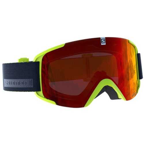 Ski maska Salomon XVIEW Acid Lime/Univ. Mid Red slika 1