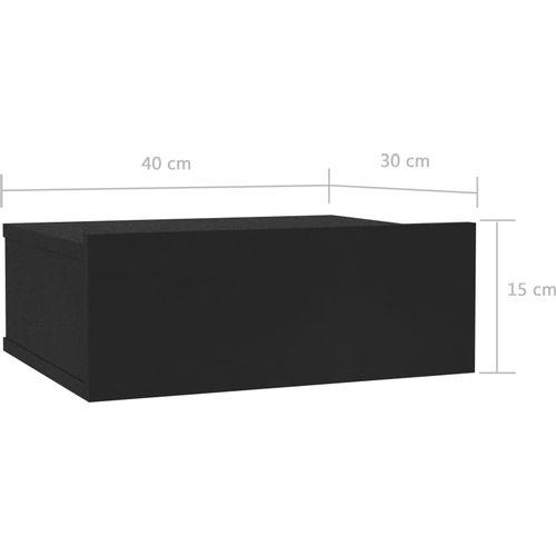 Viseći noćni ormarići 2 kom crni 40 x 30 x 15 cm od iverice slika 11
