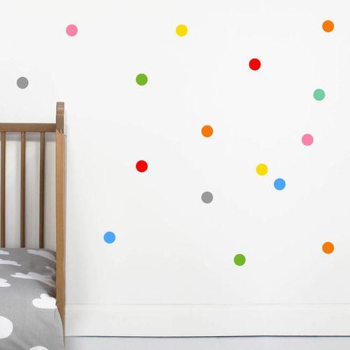 Zidne naljepnice — TOČKE — multicolor • 50% gratis slika 6