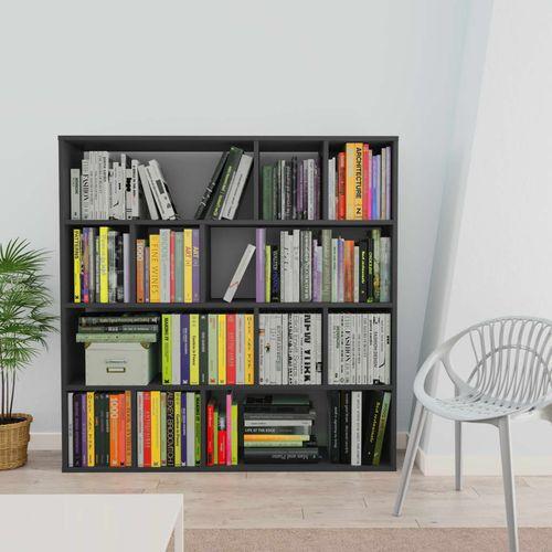 Sobna pregrada / ormarić za knjige siva 110x24x110 cm iverica slika 10