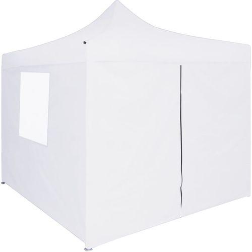 Profesionalni sklopivi šator za zabave 3 x 3 m čelični bijeli slika 3