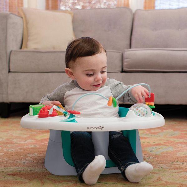 4-u-1 Super Seat nudi 360 ° hranjenja i zabavu, plus booster u jednom!    Ovo podno sjedalo uključuje 4 jedinstvena stadija za smještaj mlađe djece dok rastu, kao pozicioner, centar za aktivnost, sjedalo za hranjenje i booster...