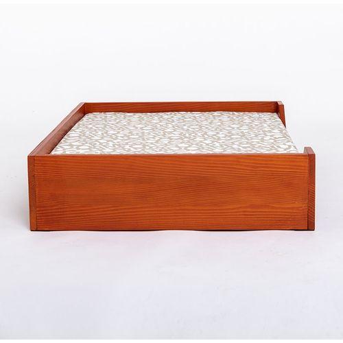 Hudog drveni krevet s jastukom za pse slika 3