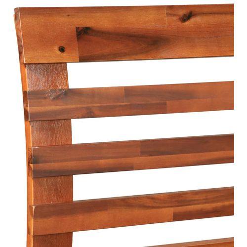 Okvir za krevet od masivnog bagremovog drva 160 x 200 cm slika 6