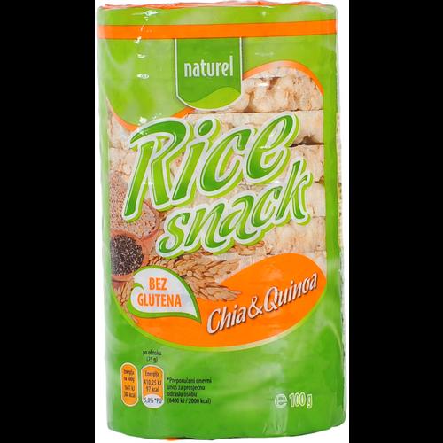 Naturel Rice Snack / Chia & Quinoa 100g slika 1