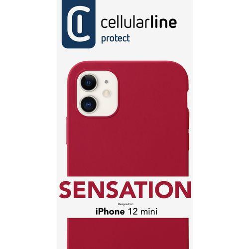 Cellularline Sensation silikonska maskica za iPhone 12 Mini crvena slika 3