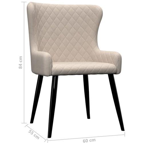 Blagovaonske stolice od tkanine 4 kom krem slika 7