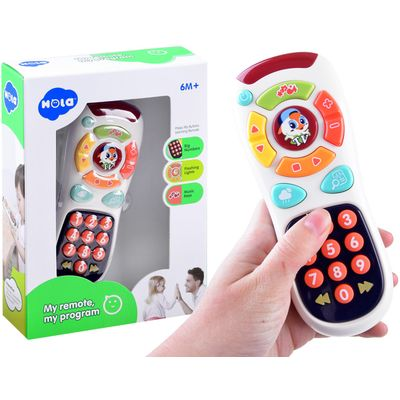 <p><span>An interactive toy in the form of a TV remote control is a Hola offer for curious kids from 6 months of age.</span><br><span>The TV remote control is equipped with a lot of colorful, interesting buttons, which will encourage every child to pla...