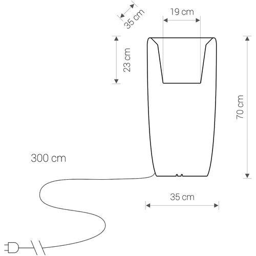 Dizajnerska svjetleća vaza — CLOUD FORMS slika 6