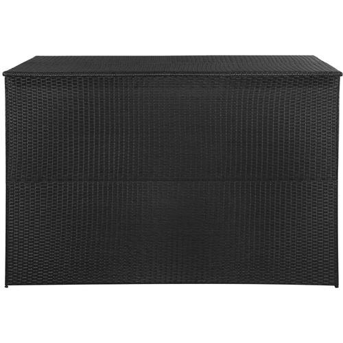Vrtna kutija za pohranu od poliratana crna 150 x 100 x 100 cm slika 7