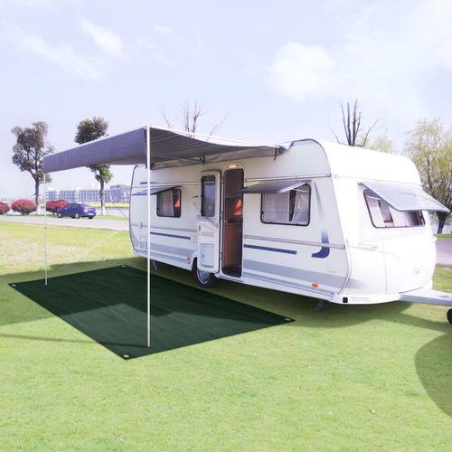 Tepih za šator 250 x 300 cm HDPE zeleni slika 1