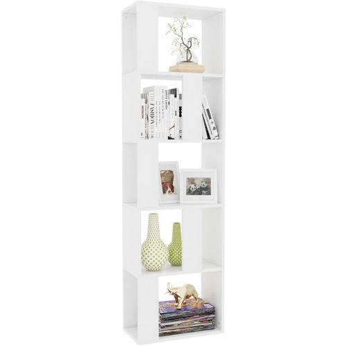 Ormarić za knjige / sobna pregrada bijeli 45x24x96 cm iverica slika 3