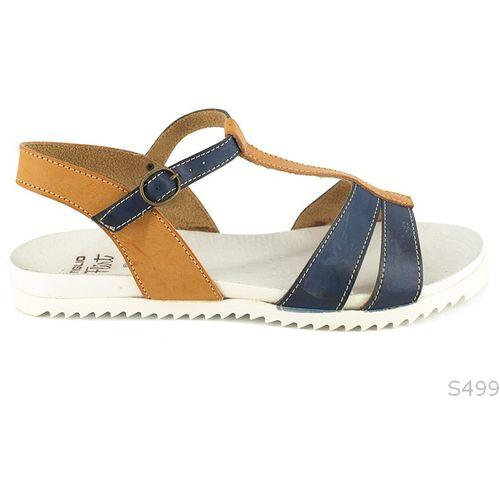 Plavo Smeđe Ravne Sandale slika 1