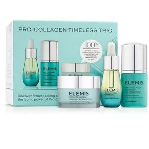 Elemis set: Svevremenski trio  Pro-Collagen Marine dnevna krema = 30 ml   Pro-Collagen serum za područje oko očiju = 15 ml   Pro-Collagen ulje za lice = 15 ml