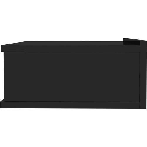 Viseći noćni ormarići 2 kom sjajni crni 40x30x15 cm od iverice slika 5