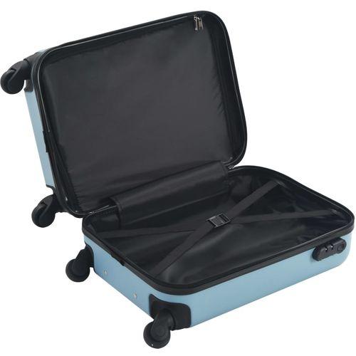 Čvrsti kovčeg s kotačima plavi ABS slika 11