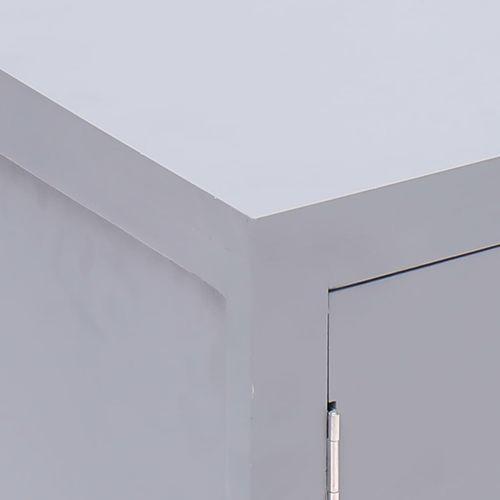 Noćni ormarić sivi 38 x 28 x 52 cm od drva paulovnije slika 2