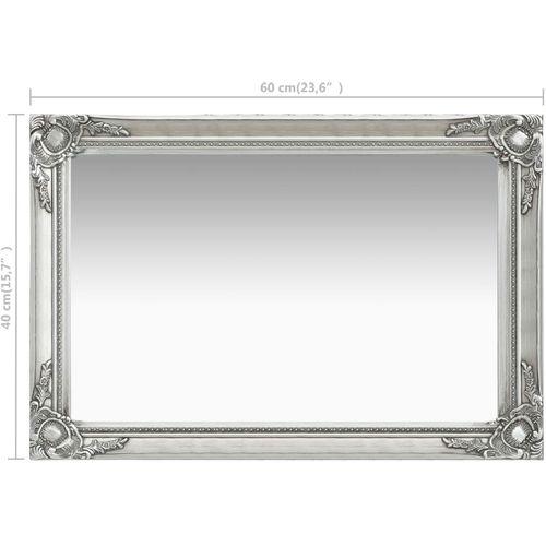 Zidno ogledalo u baroknom stilu 60 x 40 cm srebrno slika 6