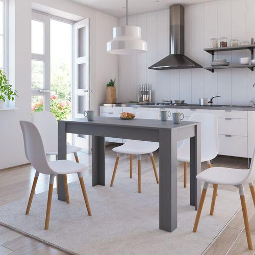 Blagovaonski stol sivi 120 x 60 x 76 cm od iverice slika 1
