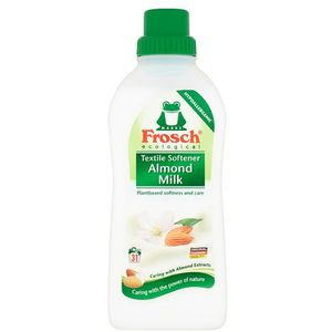 Frosch omekšivač rublja bademovo mlijeko   Frosch Omekšivači Frosch Softener -Zahvaljujući svojoj formuli biljnog podrijela opušta vlakna i ne oštećuje ih. Posebno odabrani parfemi u malim količinama, ne izazivaju alergijske reakcije kože, i ostavljaju rublje izuzetno baršunastim na dodir.