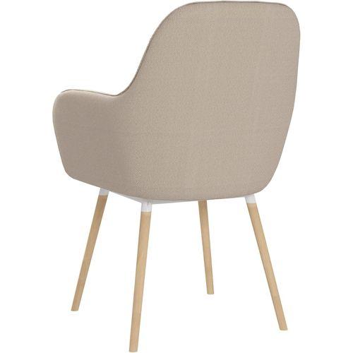 Blagovaonske stolice s naslonima za ruke 2 kom krem od tkanine slika 5