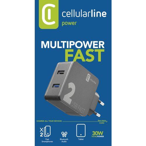 Cellularline kućni punjač Multipower 2 Pro 30W slika 3