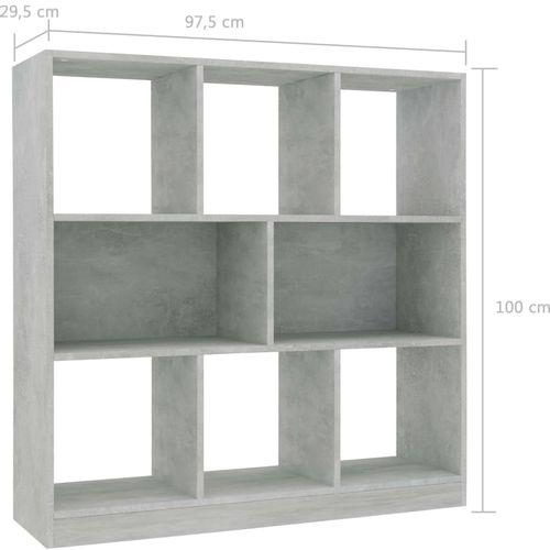 Ormarić za knjige boja betona 97,5 x 29,5 x 100 cm od iverice   slika 6
