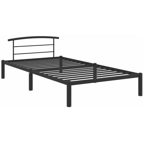 Okvir za krevet crni metalni 100 x 200 cm slika 2