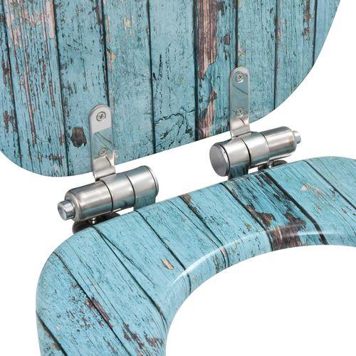 Toaletna daska s mekim zatvaranjem 2 kom MDF s uzorkom drva slika 13