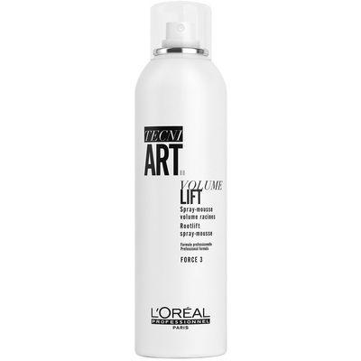 L'Oréal Professionnel Tecni.Art Volume Lift je lagana pjena za kosu koja pruža kosi volumen iz korijena i ostavlja lagane i savitljive vrhove kose, kreirajući ujedno i volumen u korijenu kose. Može se koristiti na svim tipovima kose. Pjena je pogodna za tanku ili ravnu kosu kako bi joj pružila volumen.