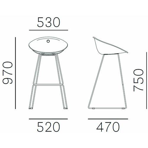 Dizajnerske barske stolice — by ARCHIVOLTO • 2 kom. slika 2