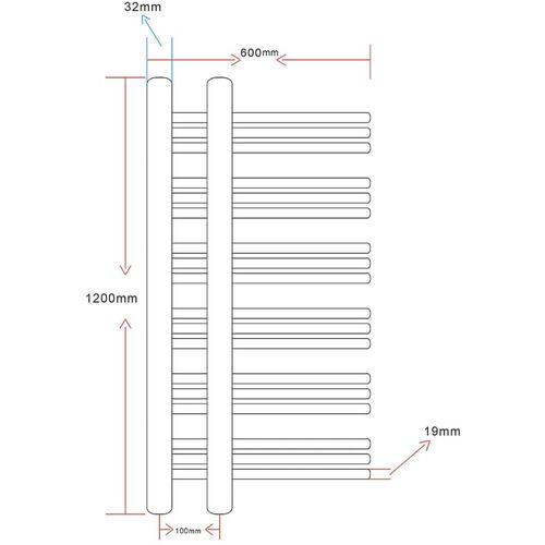 Kupaonski radijator za centralno grijanje u obliku slova E slika 8