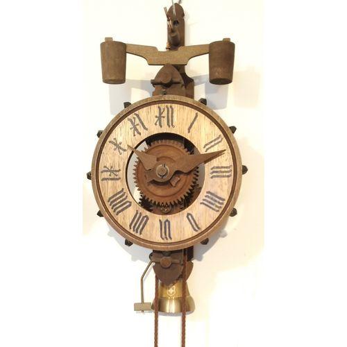 """Švicarski drveni zidni sat """"Anno 1452"""" SELVA slika 1"""