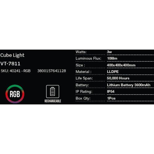 LED bežična punjiva rasvjeta — CUBE slika 2