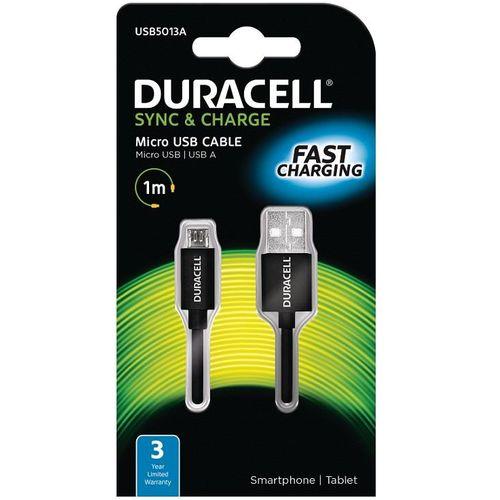 Duracell Kabel – Micro USB to USB 1m – Black slika 1