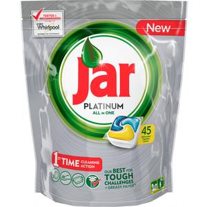 Kapsule za strojno pranje posuđa Jar Platinum All in One čiste već iz 1. pokušaja. Njihova formula uspješno savladava i najzahtjevnije izazove čišćenja kako bi vaše posuđe bilo blistavo čisto.  Kada su vam pri ruci kapsule za strojno pranje posuđa...