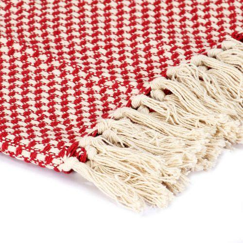 Pamučni pokrivač 220 x 250 cm crveni  slika 5