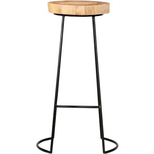 Barski stolci 2 kom od masivnog bagremovog drva slika 10
