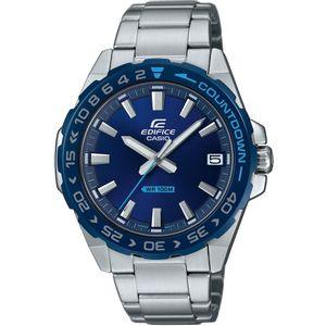 ASIO Edifice muški sat EFV-100Db-2AVUEF je s razlogom jedan od najpopularnijih proizvoda iz CASIO kolekcije. Predivan muški sat na kojem dominira srebrna boja kućišta te plava boja brojčanika. Nehrđajući čelik i srebrna boja remena doista su odlična kombinacija.